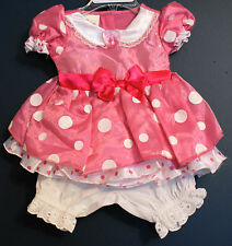 New Disney Store MINNIE MOUSE Pink Heart Costume Dress Infant 3-6 Months