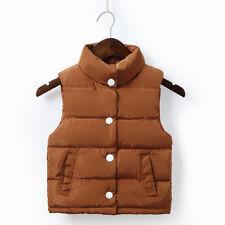 Baby Boys Girls Down Cotton Vest Waistcoat Kids Jacket Coat Warm Outerwear Vest