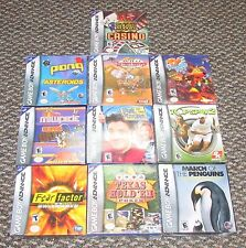 10 GameBoy Advance Games Wholesale Lot All Brand New!