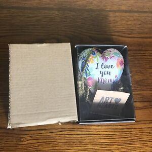 """Demdaco ARTHEARTS, """"I Love You Mom"""" Heart With Key By Kimberly Hodges., NIB"""