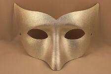 Groß Silber Maske Wolf Halloween Kostüm Damen Herren Maskenball
