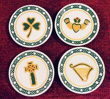 "IRISH 4.5"" Mini Plate Set In BOX Celtic Cross Claddagh Shamrock Harp MWW Market"