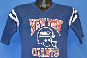 vintage 80s NEW YORK GIANTS NFL FOOTBALL V-NECK JERSEY HELMET LOGO 7 t-shirt S