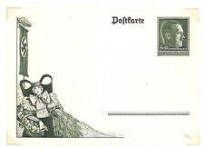 AQ42 1938 GERMANY  Commemorative harvest festival Postcard.