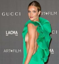 Gucci Green Silk Gown Maxi Dress UK10-12  IT42 As Rosie Huntington