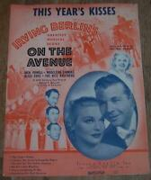 Irving Berlin On the Avenue Alice Faye Dick Powell Lot of Two Movie Sheet Music