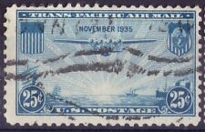 U.S.A. - TRANS PACIFIC AIR MAIL - RARO FRANCOBOLLO DA 25 CENTS - 1935