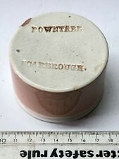 More details for rare 1890's rowntree chocolate pink glase pot or crock from scarborough (g809)