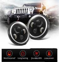 7'' LED Lampe Clignotant Halo Projecteur Ange Œil  Pour Jeep Wrangler JK TJ
