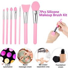 7pcs Silicone Makeup Brush Set Makeup Beauty Tools Soft Facial Mud Applicator