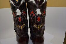 VINTAGE TEXAS EAGLE INLAY WESTERN COWBOY BOOTS US 12D