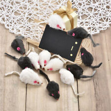12 PCS Mixed False Mouse Rat Real Fur Mixed Pet Cat Kitty Toys with Sound AU