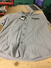 Harley Davidson Homme Gris Chemise Décontractée Taille S NEUF
