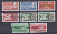 SWEDEN 1969-70 ANSWER POSTAGE DUE STAMPS 8 SINGLES UNUSED F,VF PIGEONS, PEGASUS