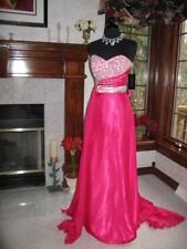 Prima Donna 5596 Raspberry Chiffon Pageant Gown Dress sz 4 NWT