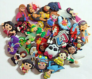 SHOE CHARMS (MX33) - Mixed Pack of 30, PRINCESS, FAIRY all shown no duplicates