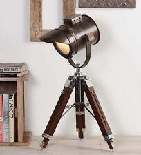 NAUTICAL COLLECTIBLE SEARCHLIGHT SPOT LIGHT STUDIO TABLE LAMP  TRIPOD STAND