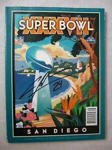 2003 Official NFL Super Bowl XXXVII Game Program HOF Signed by Charles Woodson