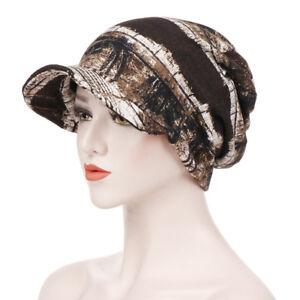 Fashion Women Printed Hat Lady Hair Loss Chemo Headwear Beret Beanie Peaked Cap