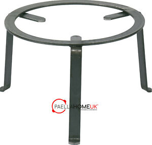 40cm Paella Pan Open Fire Beach & Garden for Wood & Charcoal Wrought Iron Stand