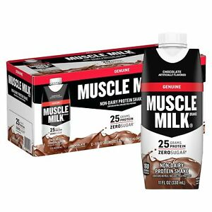 Muscle Milk Genuine Protein Shake | Chocolate 25g Protein | 11 Fl Oz - 12 Pack