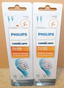 OEM 2 Packs Philips HX6032/94 Sonicare Kid's 4 Standard Brush Heads Extra Soft