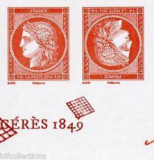 """4874a paire tête bêche 1€ vermillon typographié """"salon du timbre 2014"""""""