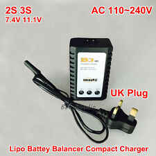 Imax B3 AC 220v 2S 3S  Cell 7.4V 11.1V  RC Lipo Battery Balance Charger UK Plug