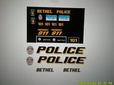 Bethel Conn  Police Vehicle  Decals 1:24  Custom
