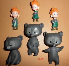Disney Pixar BRAVE movie figure TRIPLETTES 3 pack BOYS + BEARS toy mini figures