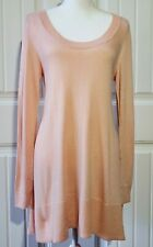 Boston Proper Sz M Womens Soft Blush Long Sleeved Pullover Tunic Sweater