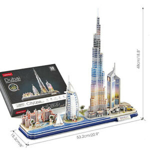 Cubic Fun - 3D Puzzle Cityscape City Line Dubai Vae LED Lighting