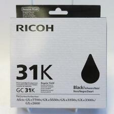 Ricoh 31K GC31K Black Ink Cartridge for GXe7700n/e5550n/e3350n/e3300n/e2600 Lot3