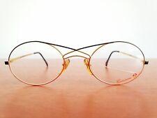 Vintage 24K gold plated CASANOVA  eyeglasses frames Size 52-20 Made in Italy