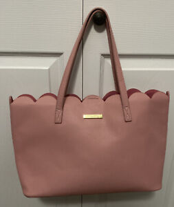 Katie Loxton Tote Purse Large Pink With Gold Hardware EUC!