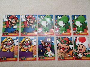 Nintendo 2018 Super Mario Trading Card Collectible Lot of 8
