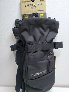 Burton MB Baker 2 In 1 MTT True Black Dryride Mittens Size Xs