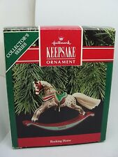 1990, 10th, ROCKING HORSE - BROWN & WHITE DAPPLED HALLMARK KEEPSAKE ORNAMENT