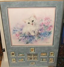 """KAYOMI HARAI """"LITTLE BLOSSOM"""" HAND SIGNED COLOR LITHOGRAPH AND STAMPS COLLECTION"""