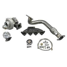 Turbo Manifold Downpipe Kit For 96-00 Civic EK B16 B18 Keeps AC PS Bolt On Fit