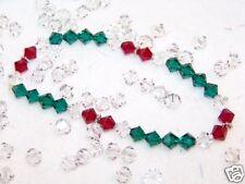 Christmas, Holiday Bracelet,Red /GreenSwarovski Crystal