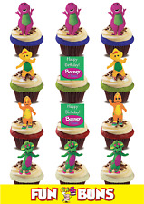 """""""BARNEY & FRIENDS"""" MIX Edible WAFER Standup Cake Toppers. Kids TV Birthday Fun"""