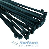 Black Nylon Cable Ties Zip Ties Wraps - Various Sizes