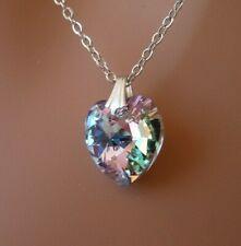Swarovski Elements Crystal in Vitrail Light Color Pendant Necklace Heart Shape