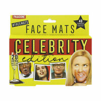 20 Celebrity Double Sided Party Face Mats Drinks Beer Face Coaster Novelty Gift