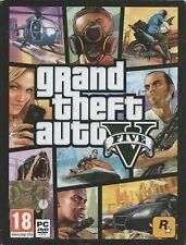 Grand Theft Auto V (multil.) (PC, 2015, DVD-box) 7 DVD's, con Rockstar key código