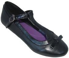 Girls Black Leather School T-bar Buckle Shoes Barratts ANTHEA 1 - 6 Jun FG BNIB
