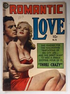 ROMANTIC LOVE #6 FN 6.0 ow/w pages Avon 1951