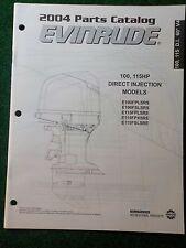 2004 BRP Evinrude Outboard Parts Catalog Manual 100 115 HP DI 60 V4 DEALER