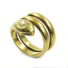Antiker Schlangenring 0,5 ct Diamant Ring 750 Gold Herrenring Serpent um 1930